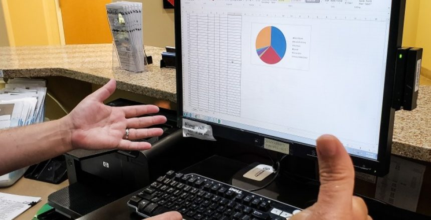 man looking at his small business budget